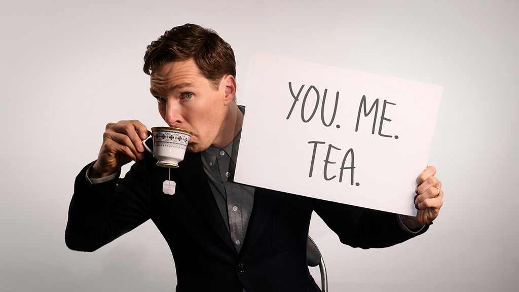 Benedict Cumberbatch Is One Sip Away From Making Love to His Tea