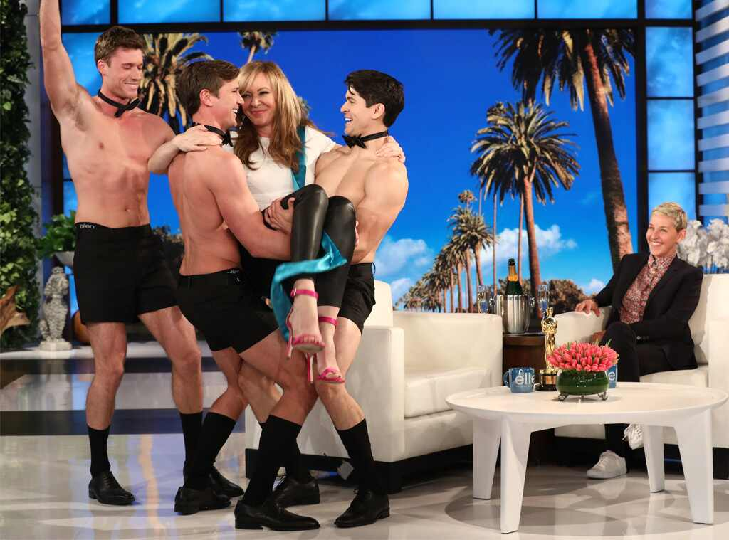 Allison Janney Celebrates Her Oscar Win With Three Shirtless Hunks