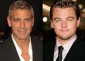 George Clooney, Leonardo DiCaprio