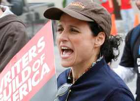 Julia Louis-Dreyfuss on Picket Lines