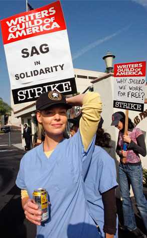 Katherine Heigl, Writers' Strike