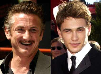 Sean Penn and James Franco, who will play gay lovers in a new film, ...