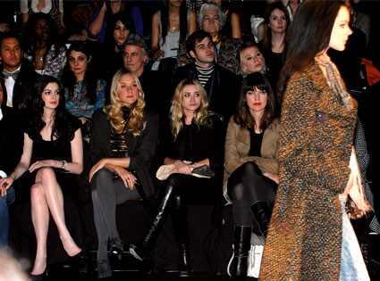 Raffaello Follieri, Anne Hathaway, Chloe Sevigny, Ashley Olsen, Milla Jovovich