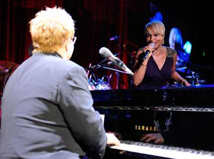 Elton John and Mary J. Blige at the EJAF Oscar Party