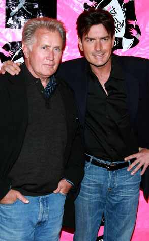 Martin Sheen and son Charlie Sheen celebrity father and son