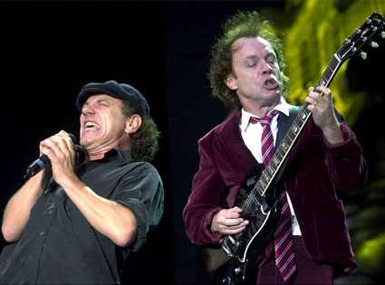 Brian Johnson (l) and Angus Young of AC/DC