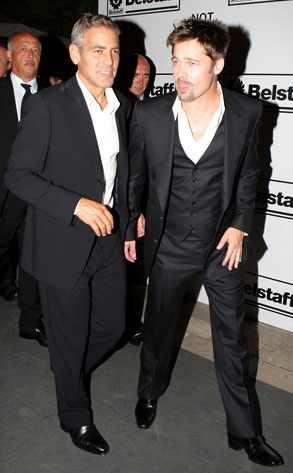 brad pitt george clooney. Brad Pitt, George Clooney Daniele Venturelli/Getty Images
