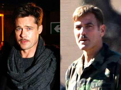brad pitt george clooney. George Clooney and Brad Pitt: They make movies together, promote good causes
