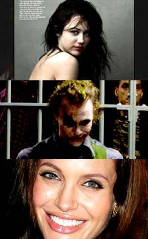 Miley Cyrus, Heath Ledger, Angelina Jolie