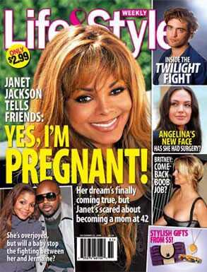 Janet Jackson, Jermaine Dupri, Life & Style Magazine
