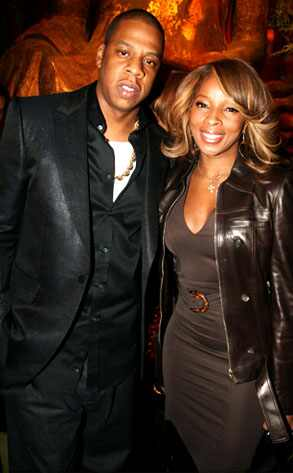 Mary J Blige and Jay Z