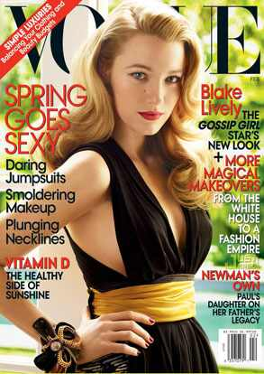 Serena van der Woodsen, er, sorry, Blake Lively landed her first Vogue cover