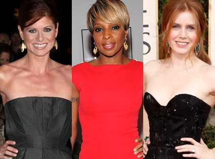 mary j blige dresses. Debra Messing, Mary J. Blige,