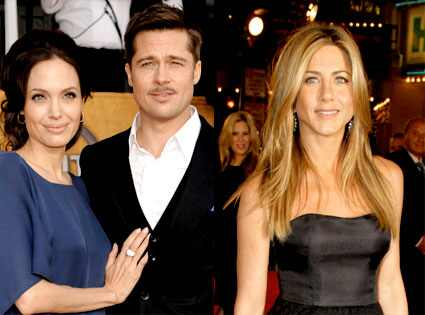 brad pitt jennifer aniston kiss