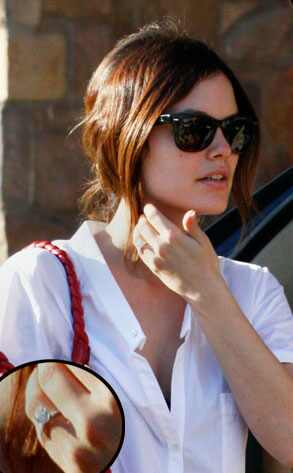 Rachel Bilson Shinn/ Fame Pictures. Well, it sure looks like she's engaged.