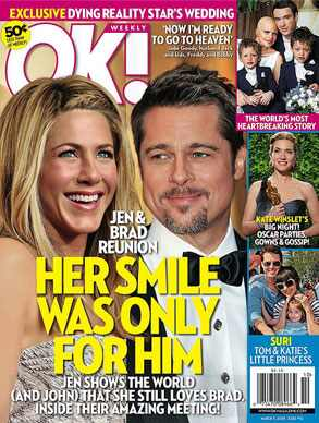 Jennifer Aniston, Brad Pitt, Ok!