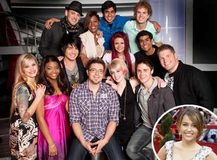 Miley Cyrus, Megan Corkrey, Jasmine Murray, Danny Gokey, Alexis Grace, Kris
