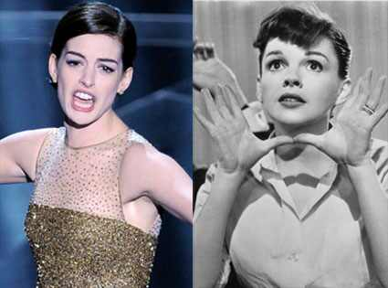 Anne Hathaway, Judy Garland AP Photo/Mark J. Terrill, Warner Bros. Pictures