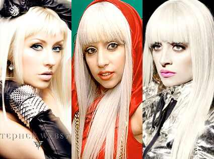 lady gaga before and after pics. Christina Aguilera, Lady Gaga,