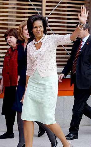 michelle obama fashion style. Michelle Obama#39;s Overseas