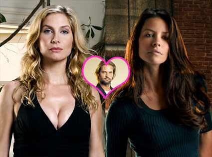 Evangeline Lilly, Elizabeth Mitchell, Josh Holloway, Lost