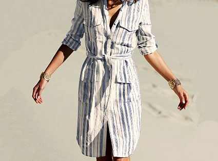 Victoria's Secret's Belted Linen Shirtdress