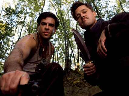 Brad Pitt, Eli Roth, Inglourious Basterds Francois Duhamel/ TWC 2009