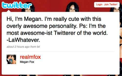 shia labeouf transformers megan fox. Megan Fox#39;s Twitter Page