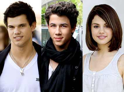 taylor lautner and selena gomez. wallpaper selena gomez and