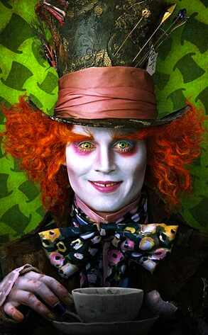 Johnny Depp, Alice in Wonderland Disney. The Tim Burton-ized version of