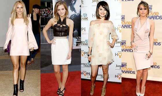 Hayden Panettiere Emma Watson Selena Gomez Miley Cyrus