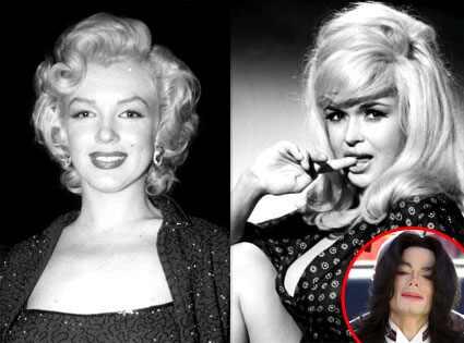 Marilyn Monroe, Jayne Mansfield, Michael Jackson