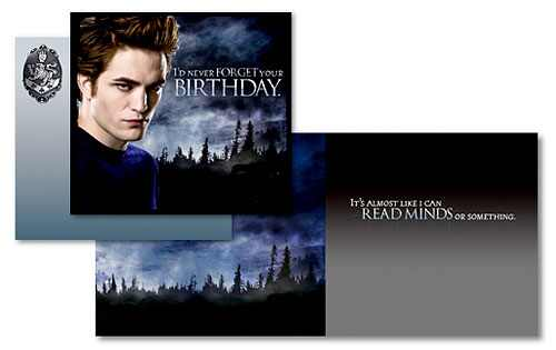 Happy Birthday Edward Style – Twilight Birthday Card