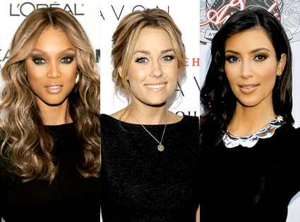 Tyra Banks, Lauren Conrad, Kim Kardashian Dimitrios Kambouris/Getty Images;