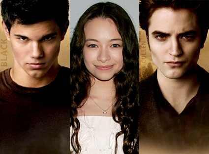 Taylor Lautner, Jodelle Ferland, Robert Pattinson, New Moon