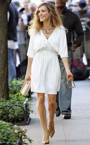 Halston Heritage White Dress. wearing a white dress from