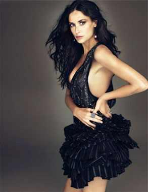 Demi Moore, W Magazine, Inside
