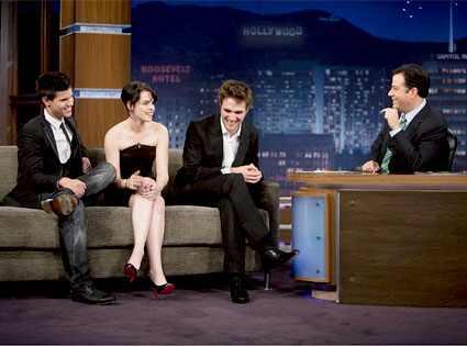 Taylor Lautner, Kristen Stewart, Robert Pattinson, Jimmy Kimmel
