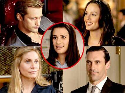 Alexander Skarsgard, True Blood, Leighton Meester, Gossip Girl, Elizabeth Mitchell, Lost, Jon Hamm, Mad Men, Lea Michele, Glee