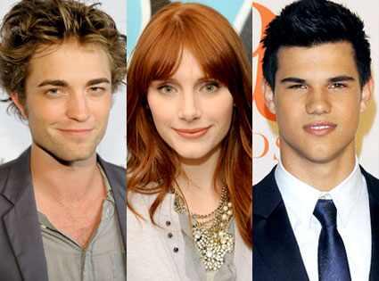 Robert Pattinson, Bryce Dallas Howard, Taylor Lautner