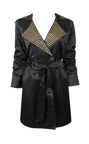 Forever 21 Studded Trench Coat