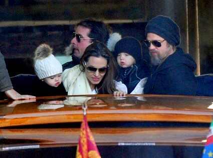 Angelina Jolie Vivienne And Knox. Angelina Jolie, Brad Pitt,