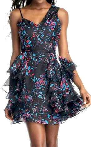 Tracy Reese Floral One-shoulder Dress