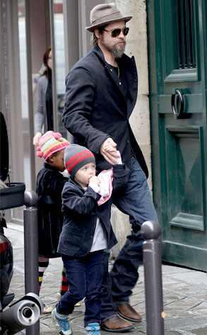 Brad Pitt, Shiloh Jolie-Pitt, Zahara Jolie-Pitt