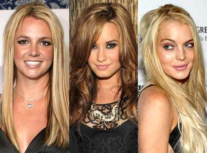 Demi Lovato, Lindsay Lohan, Britney Spears