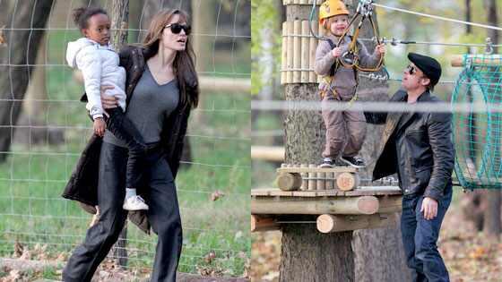 Angelina Jolie, Zahara Jolie-Pitt, Brad Pitt, Shiloh Jolie-Pitt