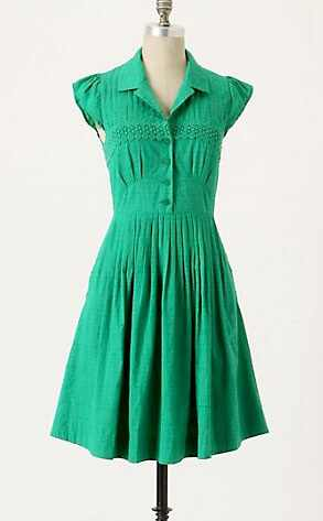 Anthropology Green Sundress