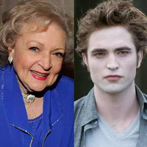 Betty White, Robert Pattinson, New Moon