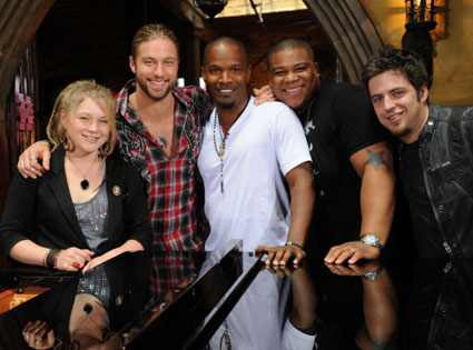 American Idol, Crystal Bowersox, Casey James, Jamie Foxx, Michael  Lynche, Lee DeWyze