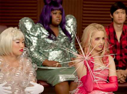 Glee, Amber Riley, Jenna Ushkowitz, Dianna Agron Adam Rose/FOX